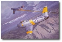 There Went Number 10 by Roy Grinnell (F-86 Sabre)
