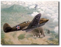 Too Little Too Late by Keith Ferris (P-40)
