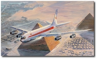 Turning Final for Cairo by Rick Herter (Boeing 707)
