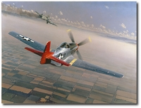 Two Down, One to Go by William S. Phillips (P-51 Mustang)