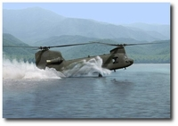 Water Ops by Dru Blair (CH-47 Chinook)
