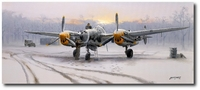 Winter of '44 by Philip West (P-38 Lightning)