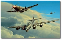 Wounded Warrior by Richard Taylor (B-17 & P-51)