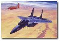 Yeager's Last Military Flight by Roy Grinnell (F-15D)