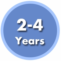 2 to 4 Years