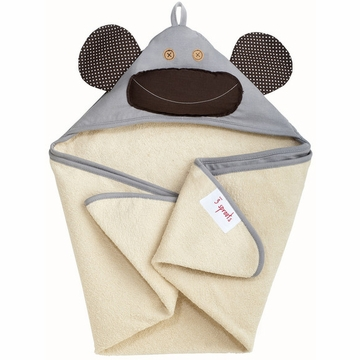 3 Sprouts Hooded Towel in Monkey Grey