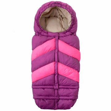 7 A.M. Enfant Blanket 212 Chevron - Grape/Neon Pink