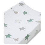 Aden + Anais 100% Cotton Muslin Changing Pad Cover - Up, Up & Away - Elephants