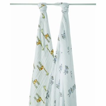 Aden + Anais 100% Cotton Muslin Swaddle Wrap-2 Pack - Jungle Jam