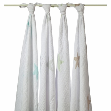 Aden + Anais 100% Cotton Muslin Swaddle Wrap - 4-Pack - Superstar Scout