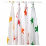 Aden + Anais 100% Cotton Super Star Muslin Swaddle Wrap-4 Pack