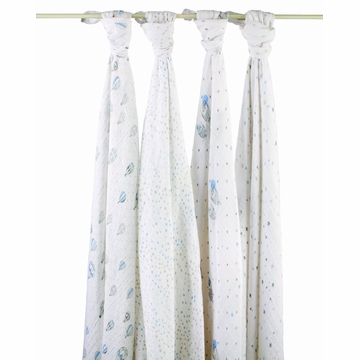 Aden + Anais 100% Cotton Wrap 4-Pack - Night Sky