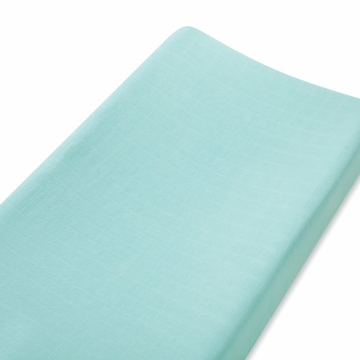 Aden + Anais Bamboo Changing Pad Cover - Azure, Solid Aqua