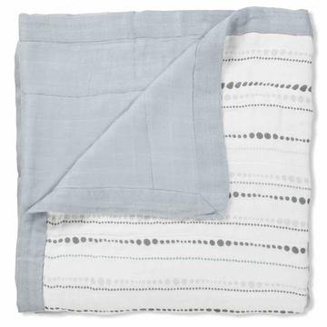 Aden + Anais Bamboo Dream Blanket - Moonlight, Beads + Grey