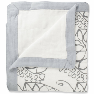 Aden + Anais Bamboo Dream Blanket - Moonlight, Beads + White