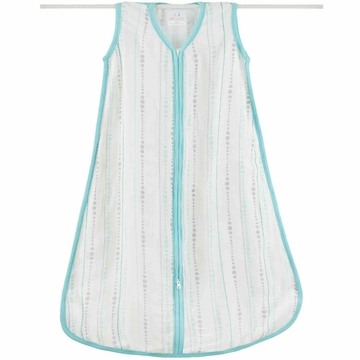 Aden + Anais Bamboo Sleeping Bag - Azure, Beads - Medium