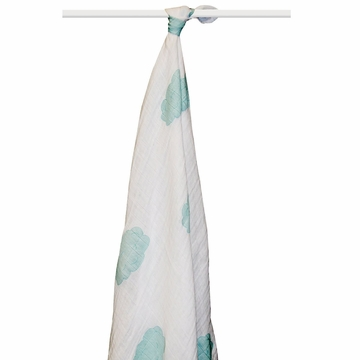 Aden + Anais Boutique 100% Organic Cotton Muslin Single Swaddle - Sky Blue