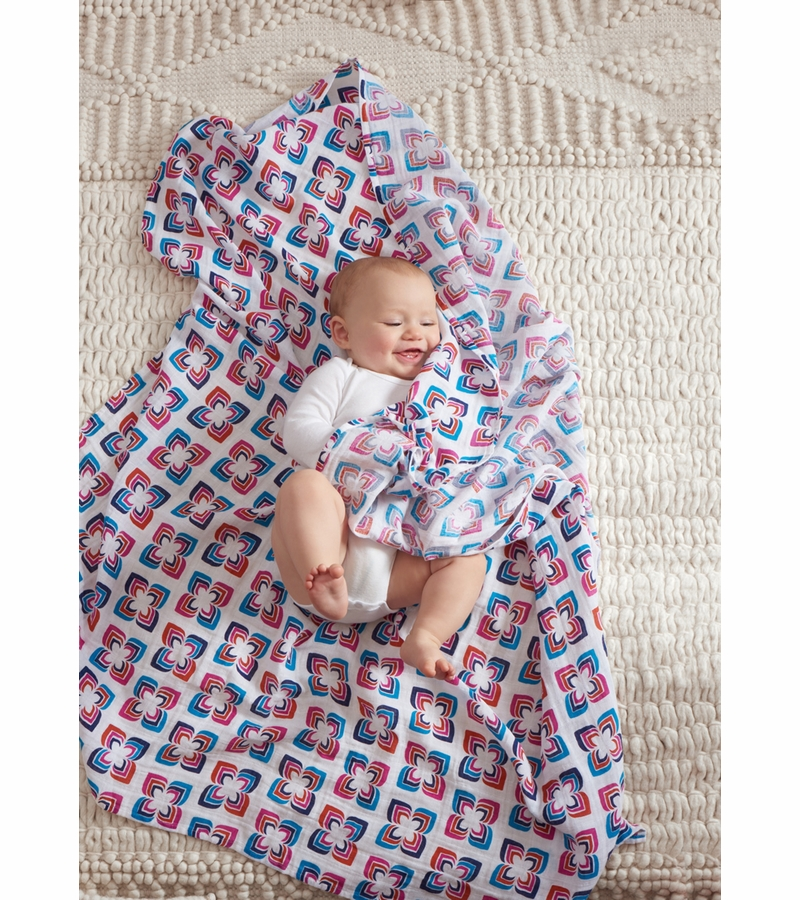 Aden Anais Classic Swaddle Wrap 4 Pack Flip Side