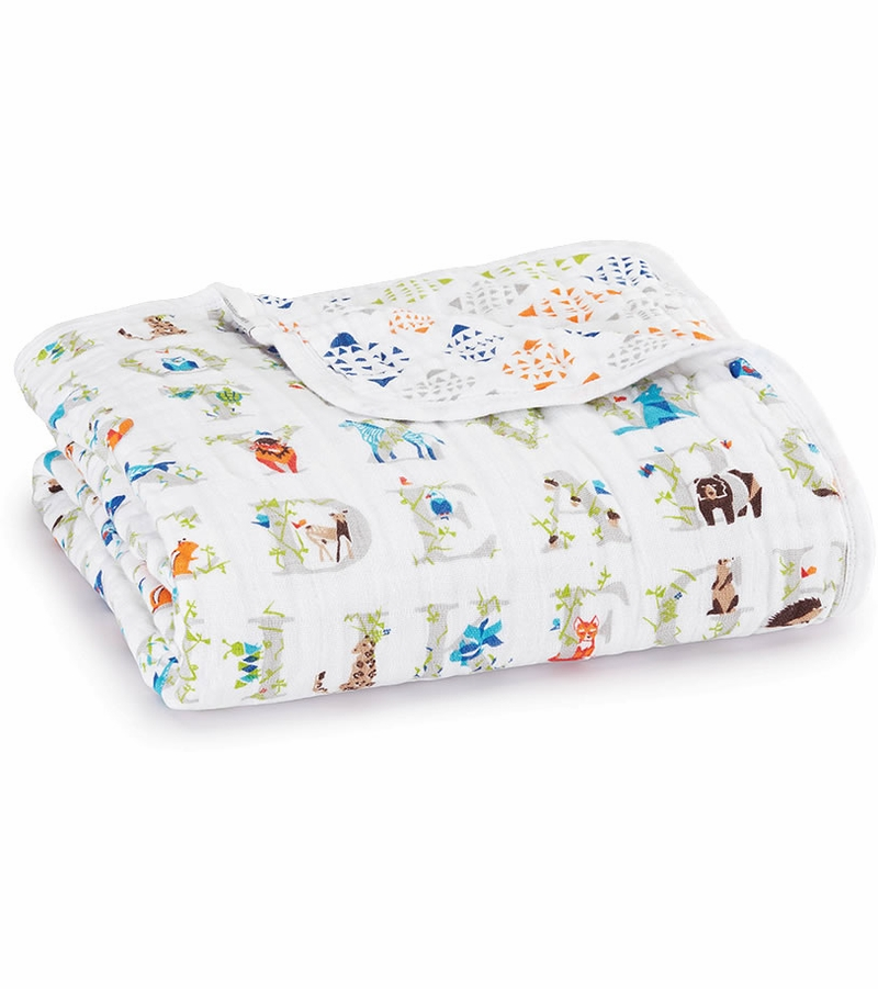 Aden and Anais make the best swaddle blankets ever. These are warm and cozy but also very breathable, so they are perfect for all year round. There are so many uses other than swaddles, too.