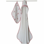 Aden + Anais Hooded Towel and Muslin Washcloth Set - Bathing Beauty