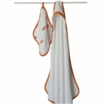 Aden + Anais Hooded Towel and Muslin Washcloth Set - Splish Splash