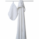 Aden + Anais Hooded Towel and Muslin Washcloth Set - Water Baby