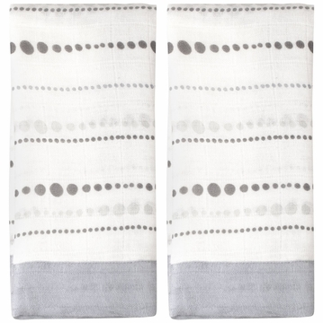 Aden + Anais Issie Bamboo Security Blankets - 2 Pack - Moonlight, Beads
