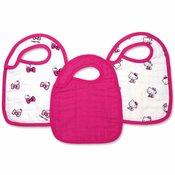 Aden + Anais Limited Edition Snap Bibs - 3 Pack - Hello Kitty
