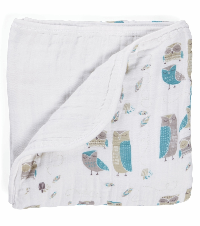 Aden and Anais Dream Blanket in Wink Design. This classic dream blanket from Aden & Anais features four layers of % cotton muslin for a soft and plush baby blanket. Uses go beyond cuddling.