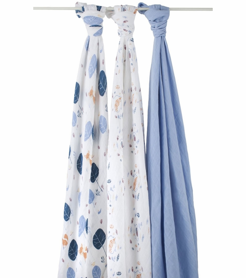 Aden Anais Organic Swaddle 3 Pack Into The Woods
