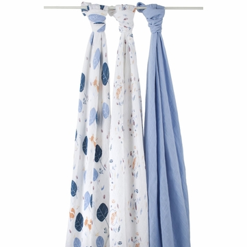 Aden + Anais Organic Swaddle - 3 Pack - Into the Woods