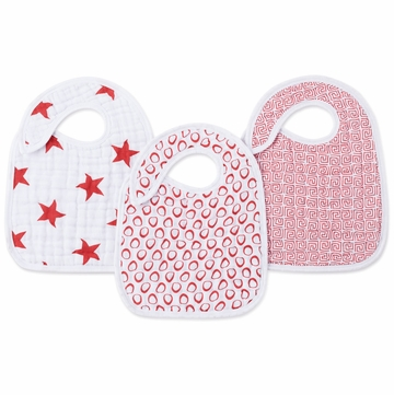Aden + Anais Snap Bib 3 Pack (RED)