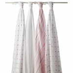 Aden + Anais Classic Swaddle Wrap 4 Pack - Oh Girl!