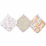 Aden + Anais Washcloth Set, Zutano - 3 Pack - Sunday Drive