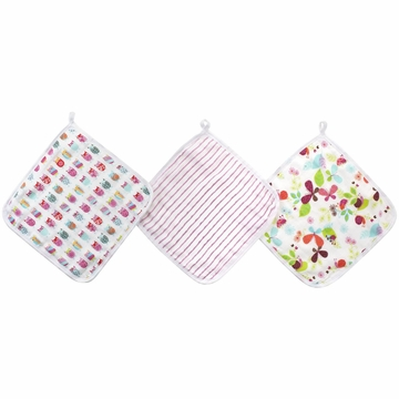 Aden + Anais Washcloth Set, Zutano - 3 Pack - Walk in the Park