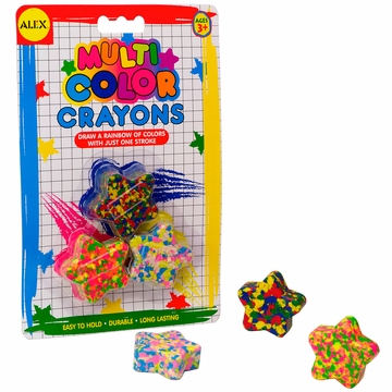 Alex Toys Star-Shaped Multicolor Crayons