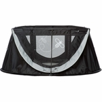 Angelcare journeyBee Portable Crib in Black and Silver
