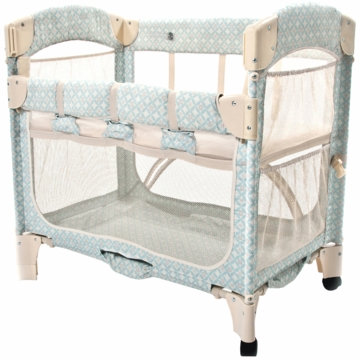 Arm's Reach Mini Arc Co-Sleeper in Turquoise Geo