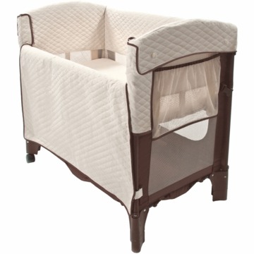 Arm's Reach Mini Arc Convertible Co-Sleeper in Cocoa/Natural