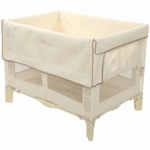 Arm's Reach Original Co-Sleeper Bassinet in Natural with Short Liner