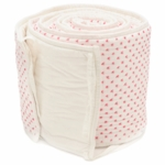 Auggie Cross-Stitch Crib Bumper in Pink