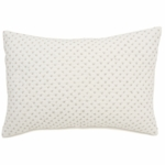 Auggie Cross-Stitch Decorative Pillow Cover in Grey