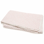 Auggie Cross-Stitch Twin Quilt in Pink