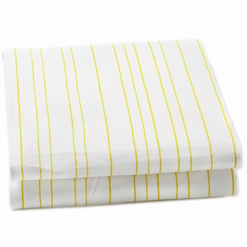 Auggie Fitted Sheet in Painted Stripe Fern