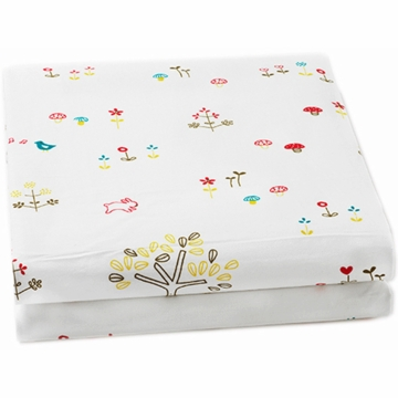 Auggie Fitted Sheet in Rabbit Patch