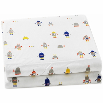 Auggie Fitted Sheet in Robot March
