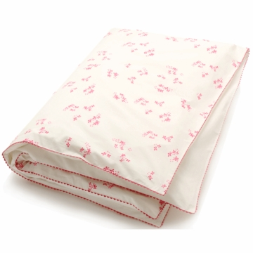 Auggie Printed Toddler Duvet Cover in Pretty with Pink