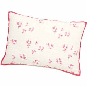Auggie Quilted Decorative Pillow Cover in Pretty with Pink