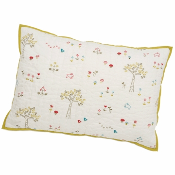 Auggie Quilted Decorative Pillow Cover in Rabbit Patch
