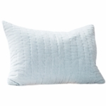 Auggie Quilted Decorative Pillow Cover - Velvet Blue Jasper